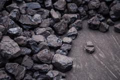 Coal mineral brown cube stone background Stock Photos
