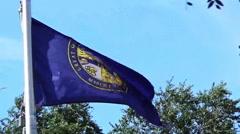 Stock Video Footage of State flag of Nebraska.