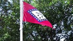 State flag of Arkansas. - stock footage