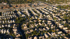 Las Vegas, Nevada, USA - November 26, 2014: Aerial view of Las Vegas suburbs Stock Footage