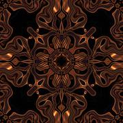 Abstract metallic bronze viking or celtic like pattern made seamless Stock Illustration
