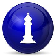 Chess icon. Internet button on white background.. - stock illustration