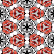 Seamless abstract chrome metallic red circular geometric texture or backgroun - stock illustration