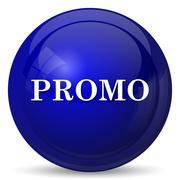 Promo icon. Internet button on white background.. - stock illustration