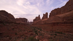 Evening time lapse in Arches National Park Stock Footage