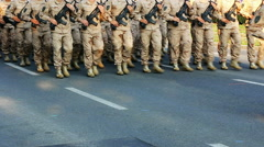 Soldiers marching, Military parade of the Croatian army - stock footage
