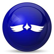 Stock Illustration of Wings icon. Internet button on white background..