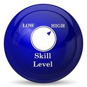 Stock Illustration of Skill level icon. Internet button on white background..