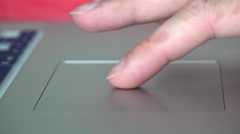Assortment of finger gestures done on touch pad of laptop 4k - stock footage