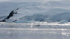 Iceberg in Antarctica - stock footage