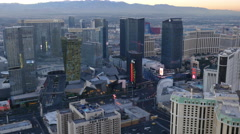 Las Vegas, Nevada, USA - November 26, 2014: Aerial view of Las Vegas Strip - stock footage