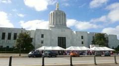 Oregon State Capitol Salem Stock Footage