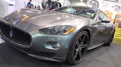 4k Maserati XXX Performance Oxigin Wheels Silver Paint Stock Footage