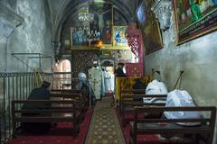 Ethiopian christians - stock photo