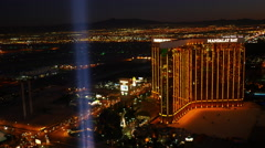 Las Vegas, Nevada, USA - November 26, 2014: Aerial view of Mandalay Bay Stock Footage