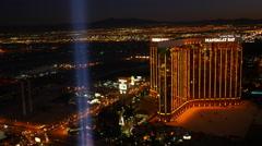 Las Vegas, Nevada, USA - November 26, 2014: Aerial view of Mandalay Bay Stock Footage