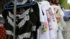 National Ukrainian shirt Stock Footage