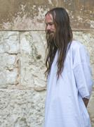 Christian pilgrim - stock photo