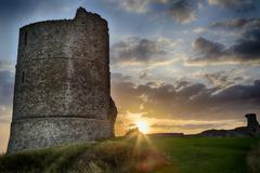 Hadleigh Castle: An Old Medival Derelict Castle - stock photo
