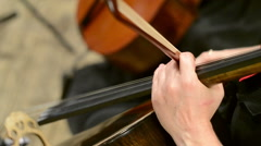 Orchestra Rehearsal, cello - stock footage