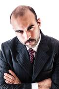 Businessman's glare Stock Photos