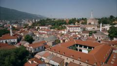 The Old Bazaar and the Fortress Kale in Skopje Stock Footage
