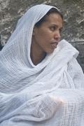 Ethiopian holy fire ceremony - stock photo
