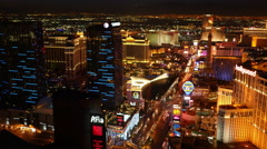 Las Vegas, Nevada, USA - November 26, 2014: Aerial view of Las Vegas Strip at - stock footage