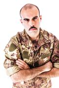 Soldier Glare - stock photo