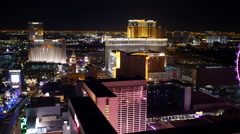 Las Vegas, Nevada, USA - November 26, 2014: Aerial view of Las Vegas Strip at Stock Footage