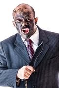 Stock Photo of Businessman assault