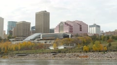 Shaw Conference Center and Canada Place in Fall. Stock Footage