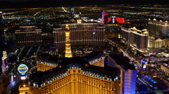 Las Vegas, Nevada, USA - November 26, 2014: Aerial view of Las Vegas Strip at Stock Footage
