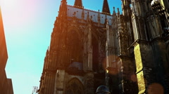 Cologne Dom Cathedral in Cologne Germany Stock Footage
