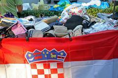 50th Days of 'Kaj' culture, Krapina, Croatia, Europe, 2015. Flea market Stock Photos