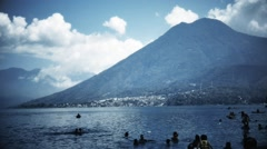 Bathers on the Lake Atitlan Stock Footage