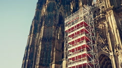 Cologne Dom Cathedral in Cologne Germany - stock footage
