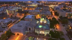 Scenic downtown Green Bay Wisconsin at twilight Stock Footage