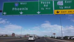Stock Video Footage of Driving on I-10 West Near Phoenix Arizona