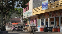 Restaurant in village near harbour,Pangandaran,Java,Indonesia Stock Footage