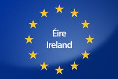 Ireland Europe flag - stock illustration