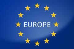 Europe flag - stock illustration