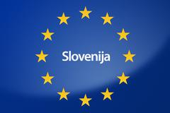 Slovenia Europe flag - stock illustration