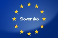 Slovakia Europe flag Stock Illustration