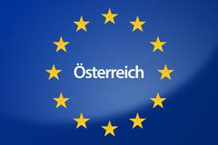 Stock Illustration of Austria Europe flag