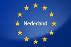 Stock Illustration of Dutch Europe flag