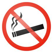 Stock Illustration of No smoking allowed sign