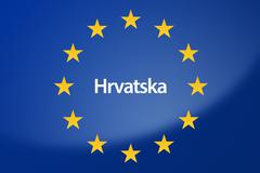Croatia Europe flag - stock illustration
