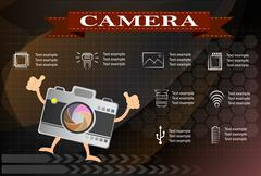 Camera and Video icons ,Illustration eps 10 Stock Illustration