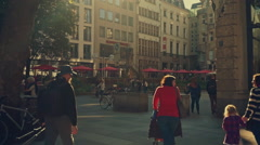 Cologne Downtown Hohestrasse Stock Footage